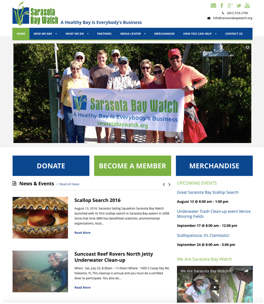 Sarasota Bay Watch website
